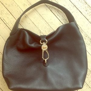 Black Pebbled Leather Slouchy Purse
